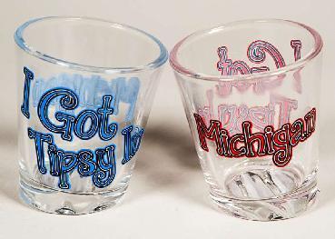 SHOT GLASS TIPSY IN MICHIGAN