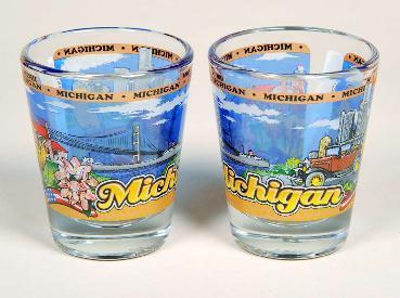 SHOT GLASS MICHIGAN COMPOSITE