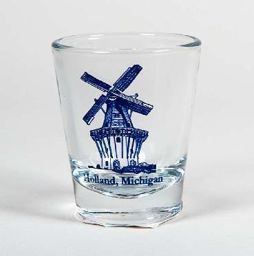 SHOT GLASS HOLLAND WINDMILL
