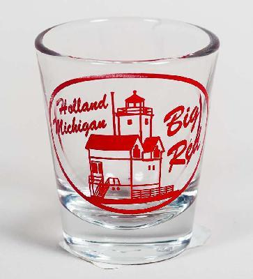 SHOT GLASS HOLLAND HARBOR LIG