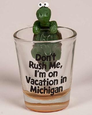 SHOT GLASS TURTLE DON'T RUSH