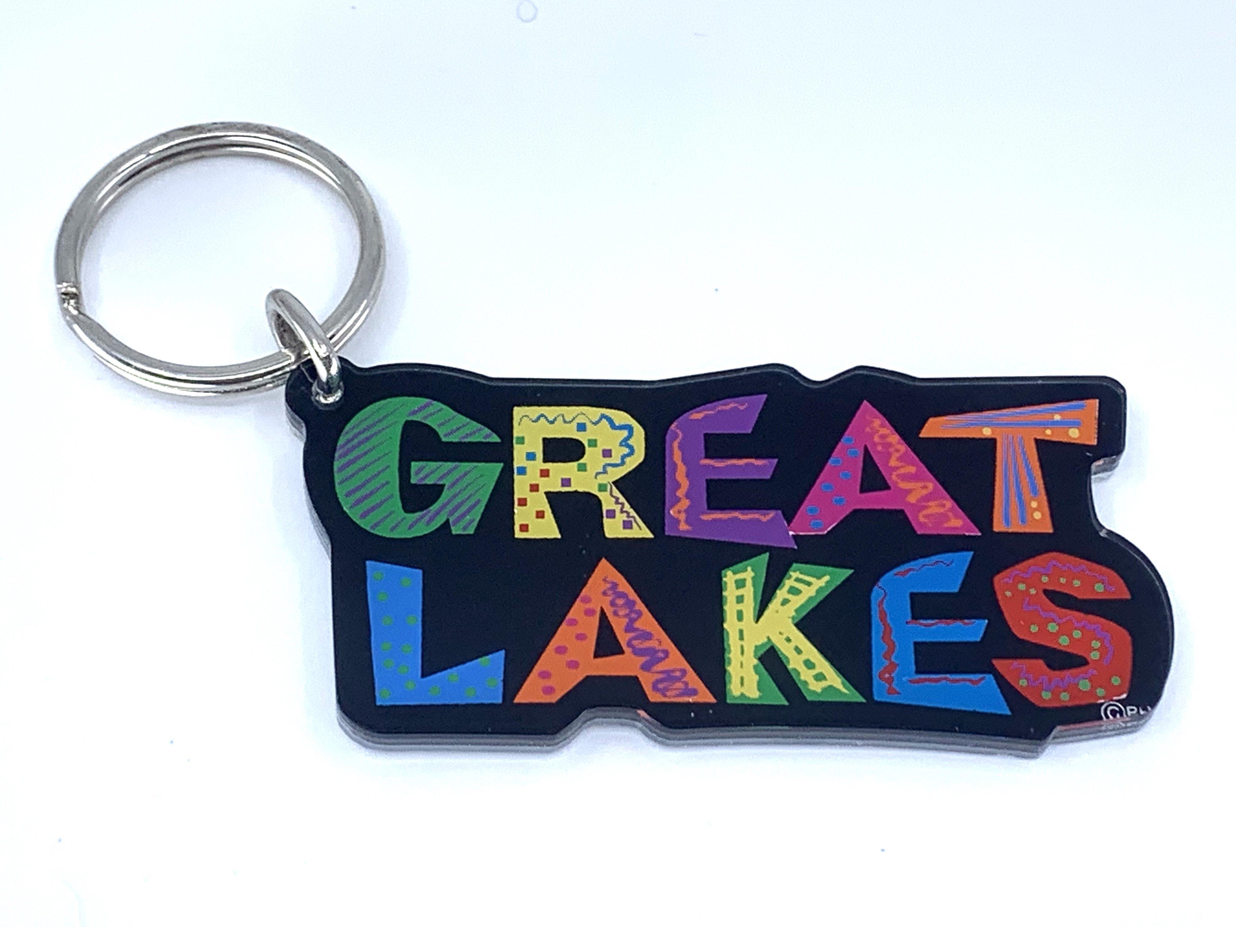 ACRYLIC GREAT LAKES KEYCHAIN