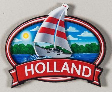 MAGNET OVAL SAILBOAT HOLLAND