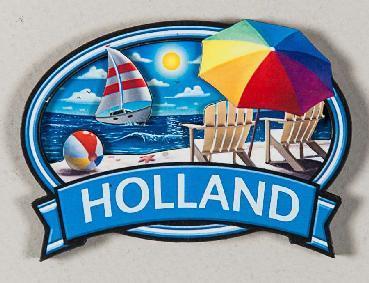 MAGNET OVAL BEACH HOLLAND