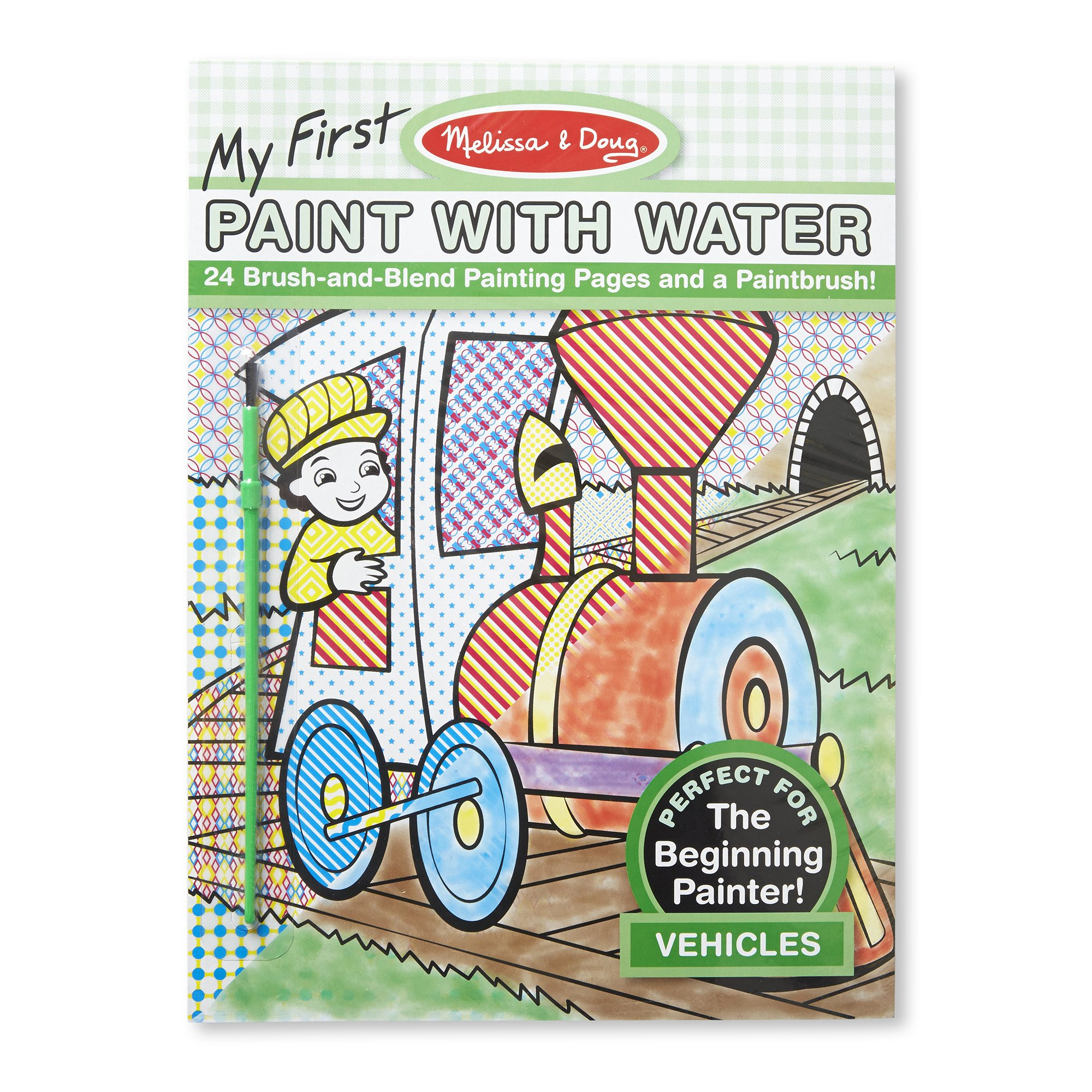 MY FIRST PAINT WITH WATER - VEHICLES