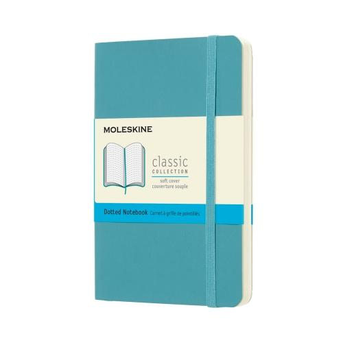 DOTTED SOFT COVER NOTEBOOK REEF BLUE POCKET