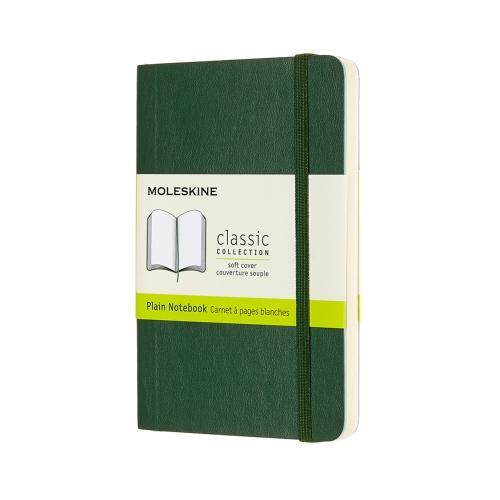 PLAIN SOFT COVER NOTEBOOK MYRTLE GREEN POCKET