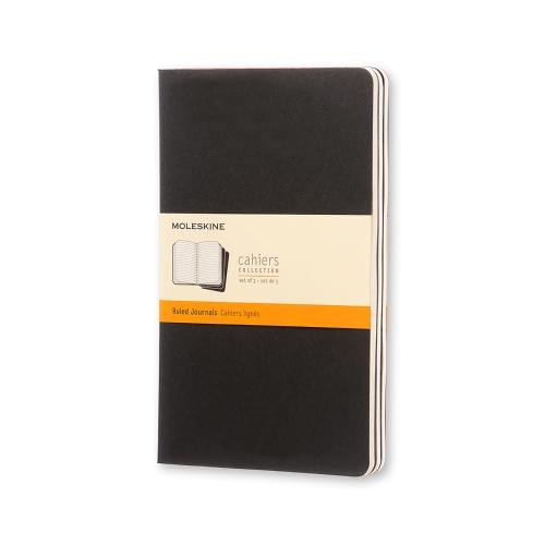 RULED CAHIER JOURNAL BLACK LARGE