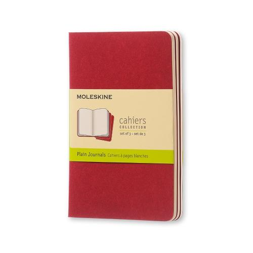 PLAIN CAHIER JOURNAL CRANBERRY RED POCKET