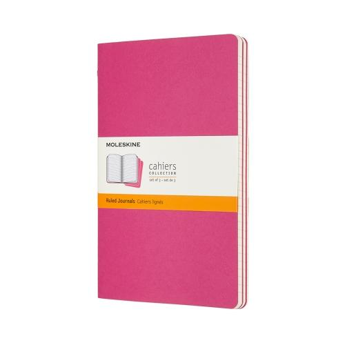 RULED CAHIER JOURNAL KINETIC PINK LARGE
