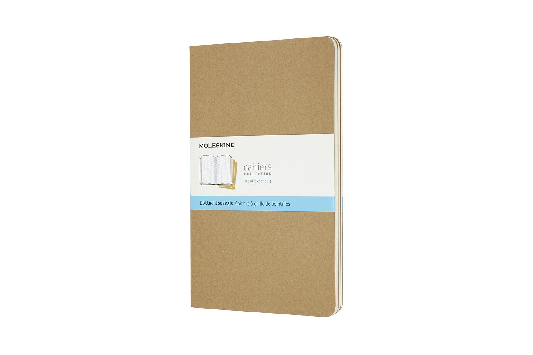 DOTTED CAHIER JOURNAL KRAFT BROWN LARGE