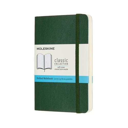 DOTTED SOFT COVER NOTEBOOK MYRTLE GREEN POCKET