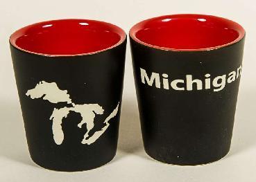Great Lakes Shot Glass, Black Green