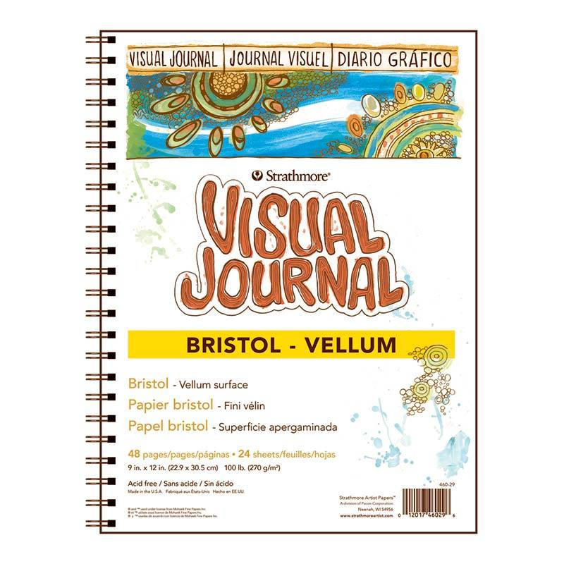 VISUAL JOURNAL BRISTOL VELLUM 9X12