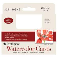 CARD WATERCLR SIZE 10PK ANNC