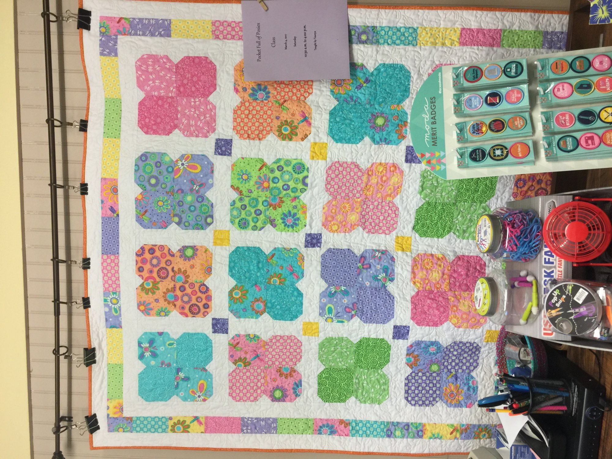 Pocket Of Posies Quilt Pattern.Pocket Full Of Posies