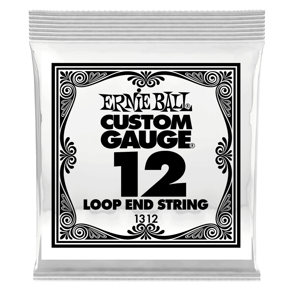 .012 Loop End Stainless Steel Plain Banjo or Mandolin Guitar Strings 6 Pack (1312)