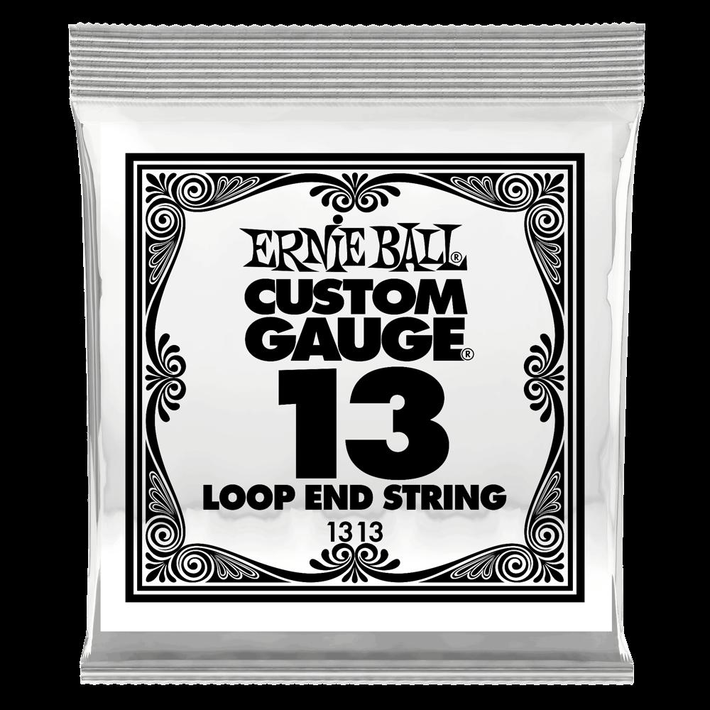 .013 Loop End Stainless Steel Plain Banjo or Mandolin Guitar Strings 6 Pack (1313)