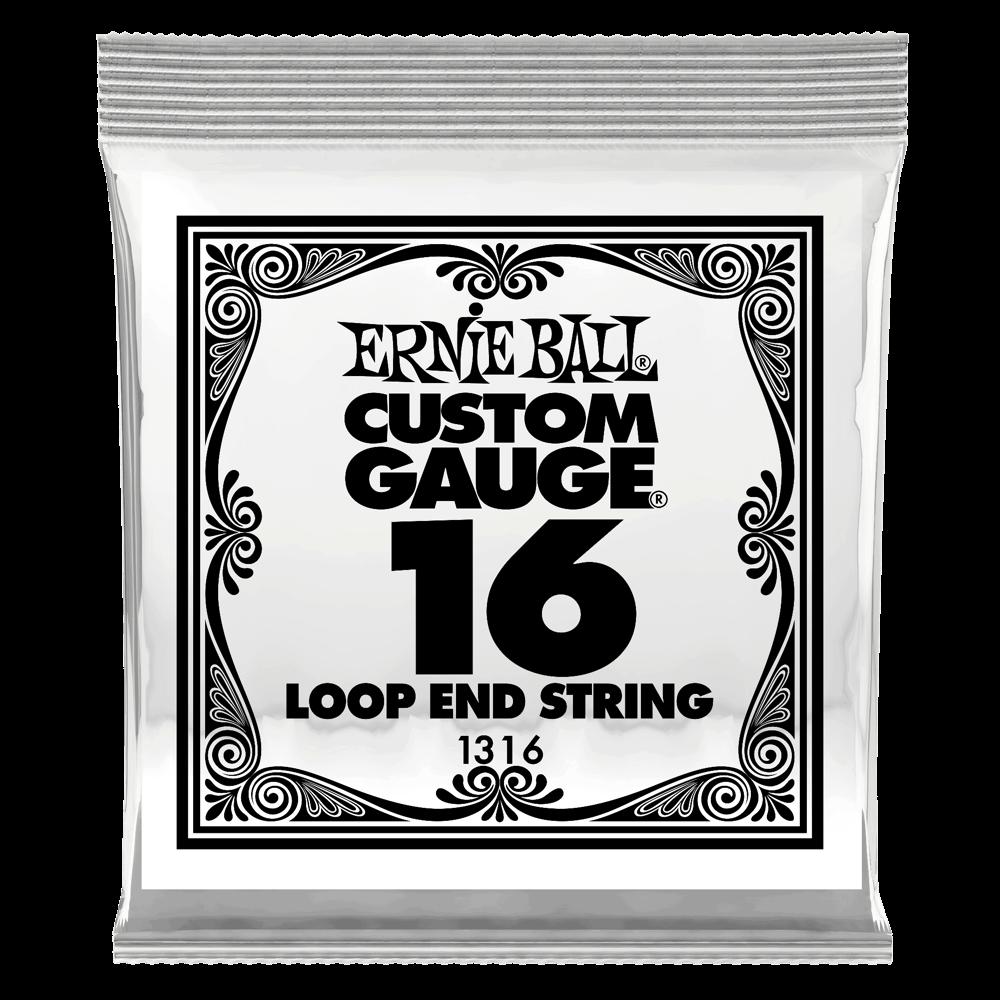 .016 Loop End Stainless Steel Plain Banjo or Mandolin Guitar Strings 6 Pack (1316)