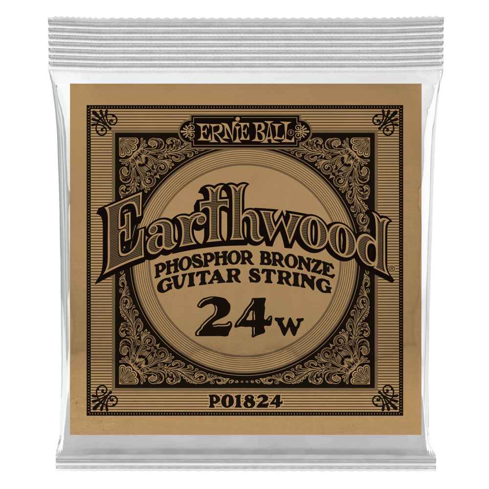 .024 Earthwood Phosphor Bronze Acoustic Guitar Strings 6 Pack (1824)