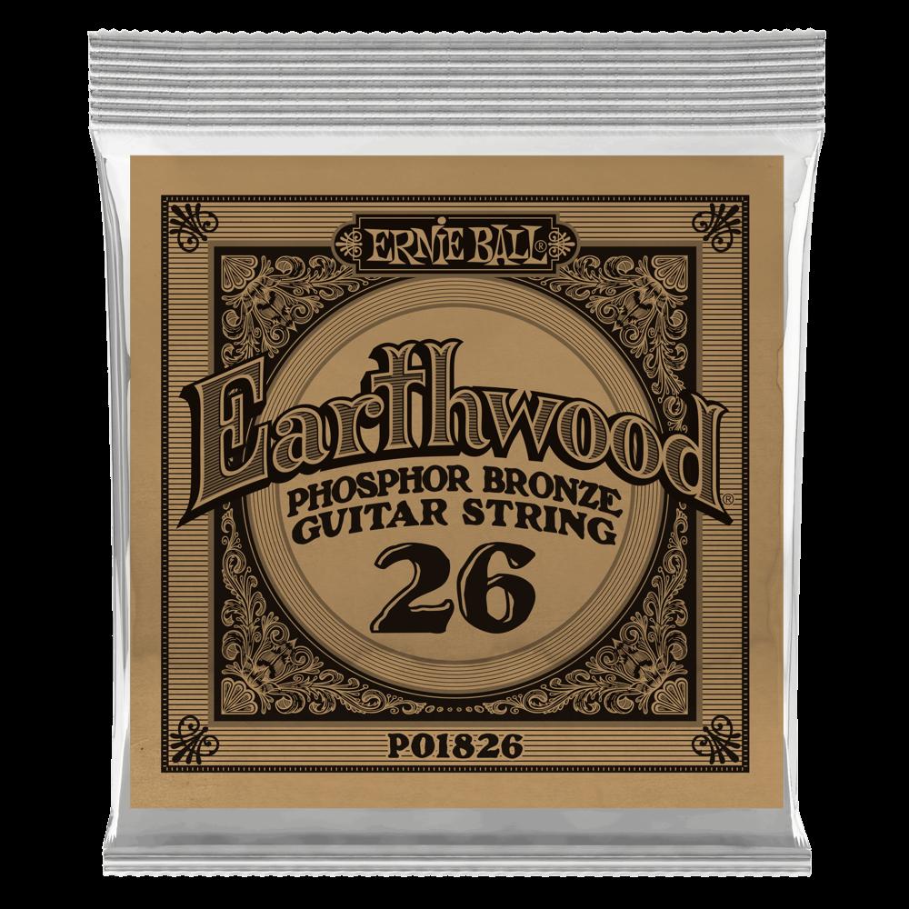 .026 Earthwood Phosphor Bronze Acoustic Guitar Strings 6 Pack (1826)