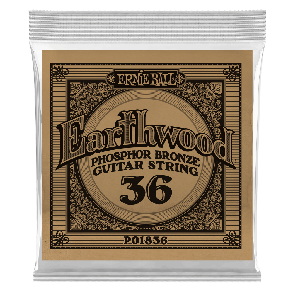 .036 Earthwood Phosphor Bronze Acoustic Guitar Strings 6 Pack (1836)