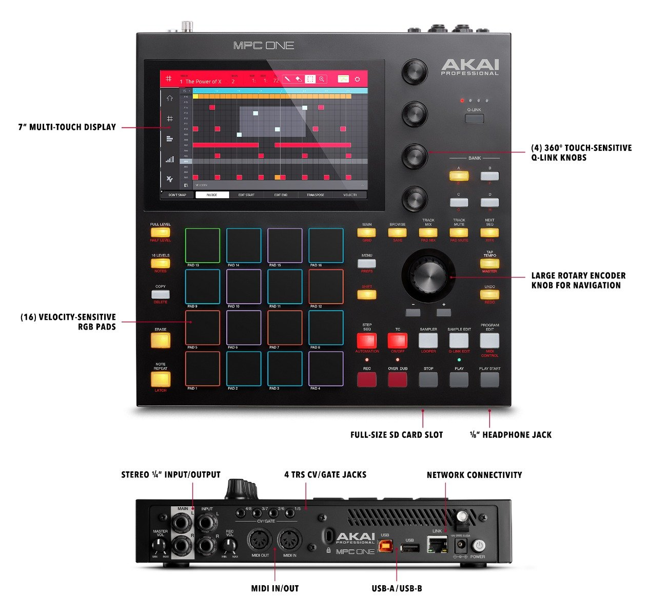 Akai MPC One Standalone MPC with 7 Touch Display