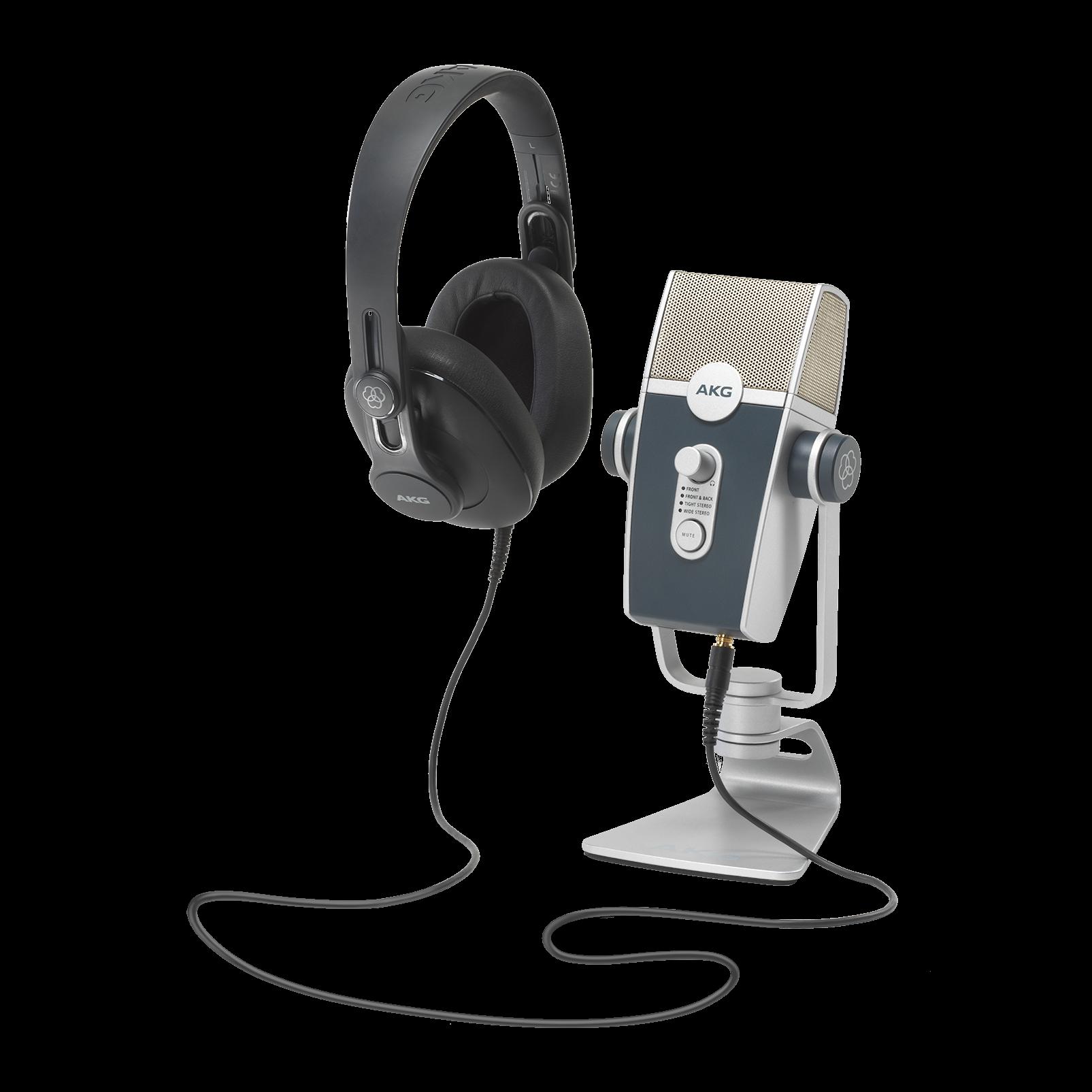 AKG Podcasters Essential Bundle Lyra USB Mic and K371 Headphones