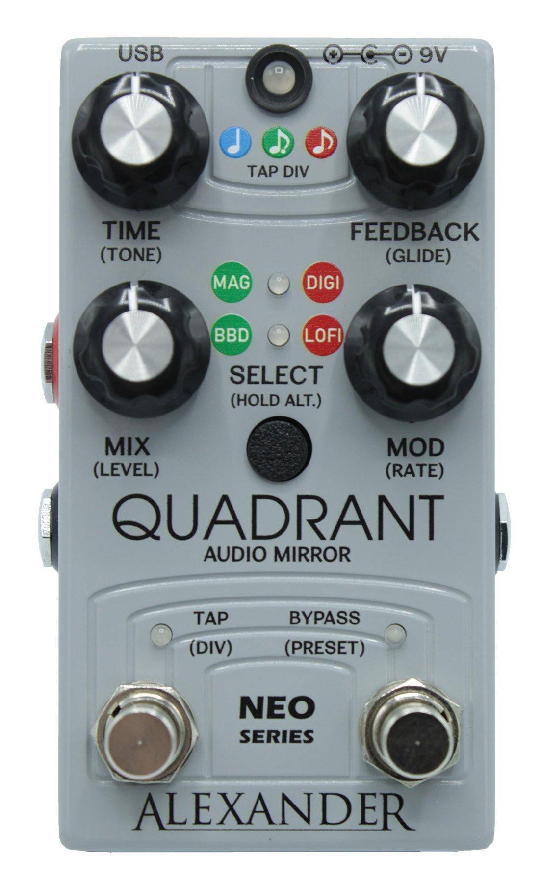 Alexander Quadrant Audio Mirror Delay Pedal