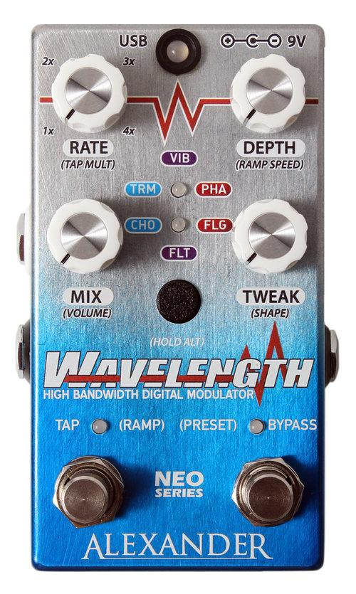 Alexander Wavelength High Bandwidth Digital Modulator Pedal
