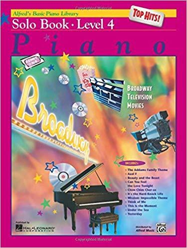 Alfreds Basic Piano Course Top Hits! Solo Book Level 4