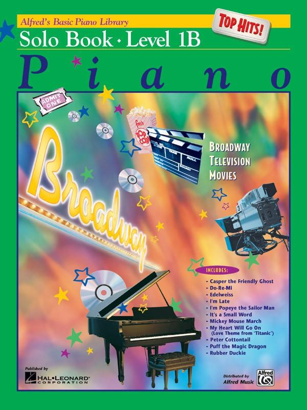 Alfreds Basic Piano Course: Solo Book Top Hits Book Level 1B