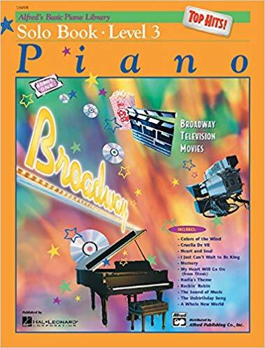 Alfreds Basic Piano Library Top Hits! Solo Book Bk 3 Paperback
