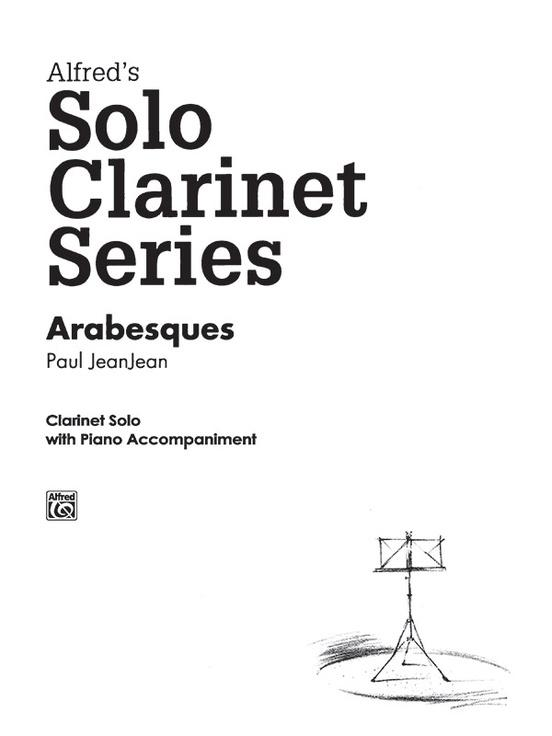 Alfreds Solo Clarinet Series Arabesques