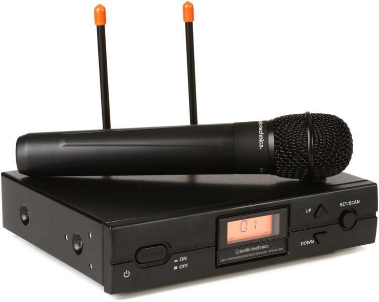 Audio Technica ATW-2120b Handheld Wireless Mic Band D 1077