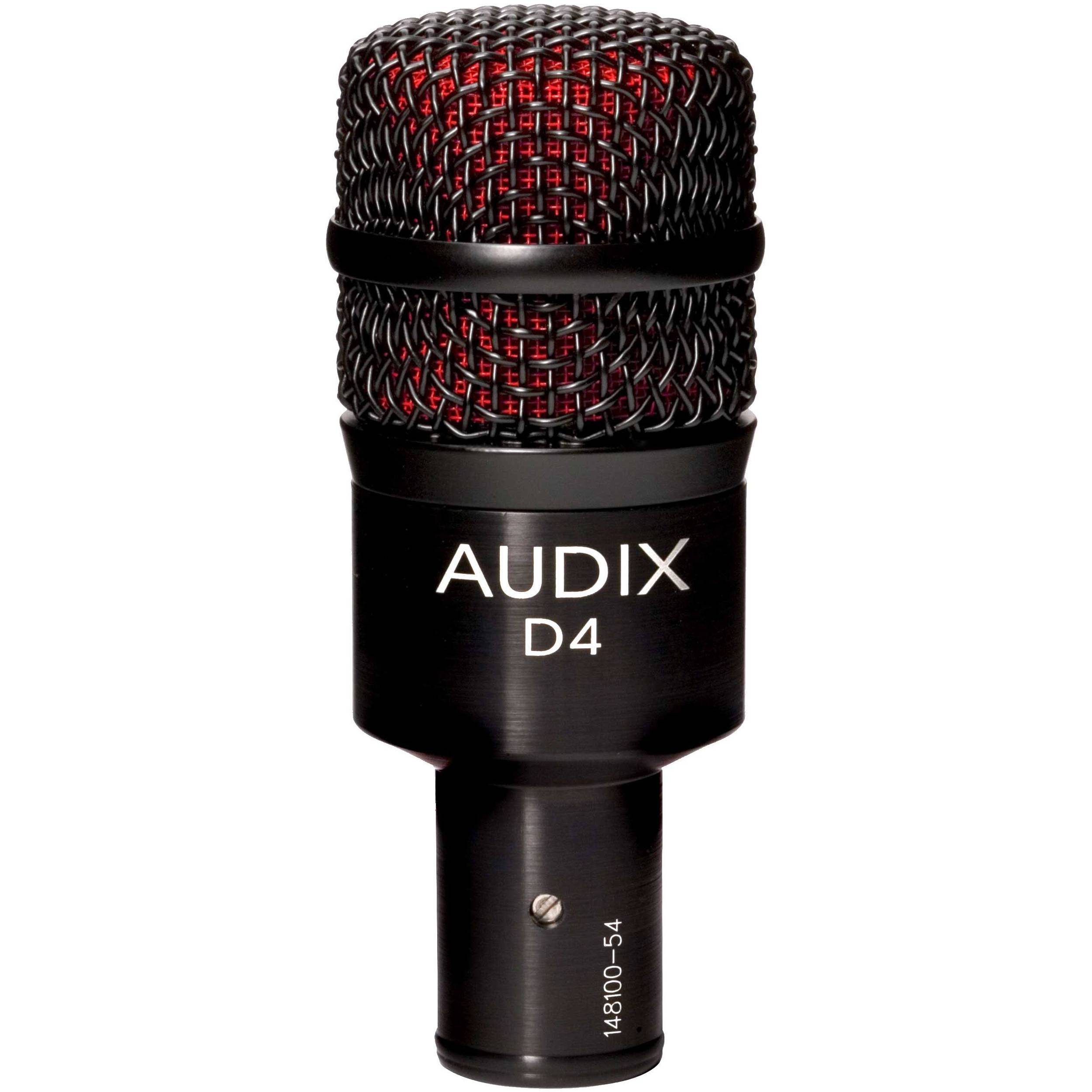 Audix D4 Hypercardioid Dynamic Instrument Microphone