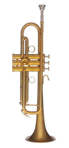 B&S X- Series MBX Heritage Bb Trumpet-Brushed Gold