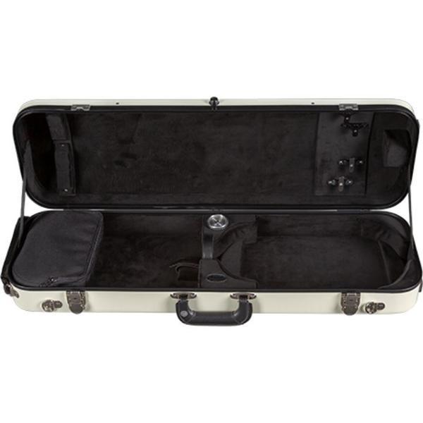 Bobelock 1061 Lightweight Oblong Fiberglass Violin Case Ivory/Black