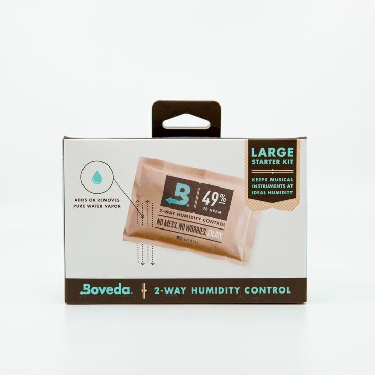 Boveda 2-Way Humidity Control Large Starter Kit For Acoustic Guitar