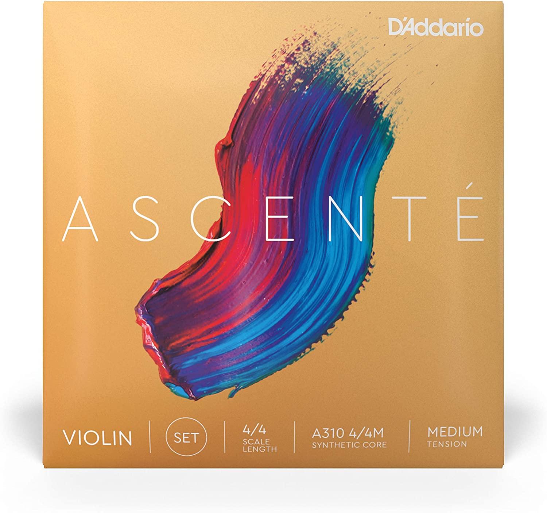 DAddario Ascent Violin String Set 4/4 Scale Medium Tension