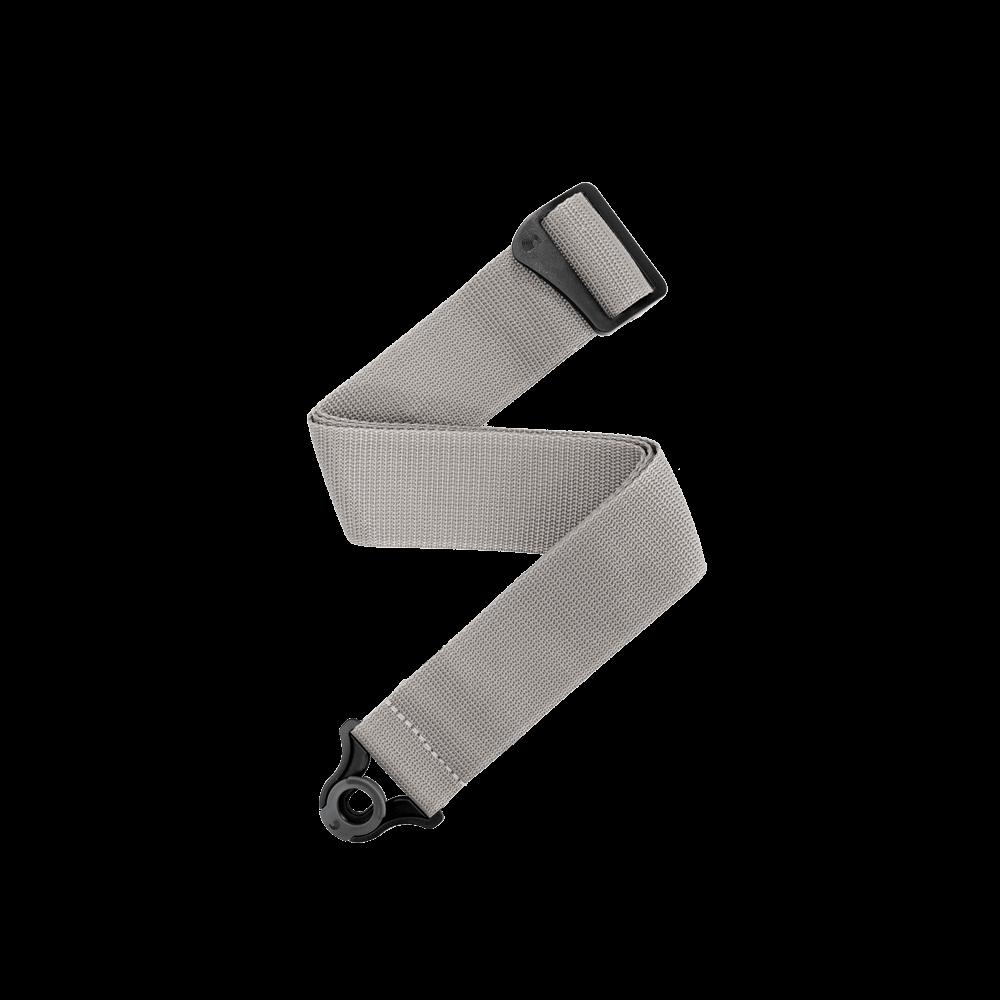 DAddario Auto Lock Polypro Guitar Strap Silver