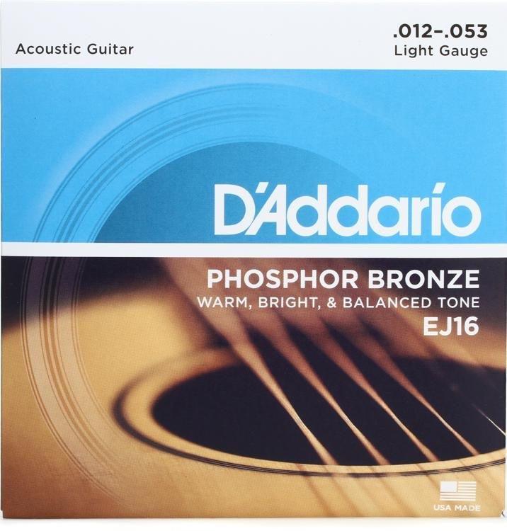DAddario EJ16 Phosphor Bronze Acoustic Guitar Strings 12-53