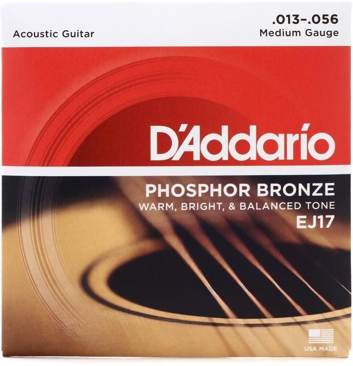 DAddario EJ17 Phosphor Bronze Acoustic Guitar Strings 13-56