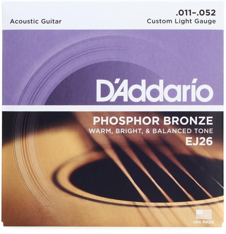DAddario EJ26 Phosphor Bronze Acoustic Guitar Strings 11-52
