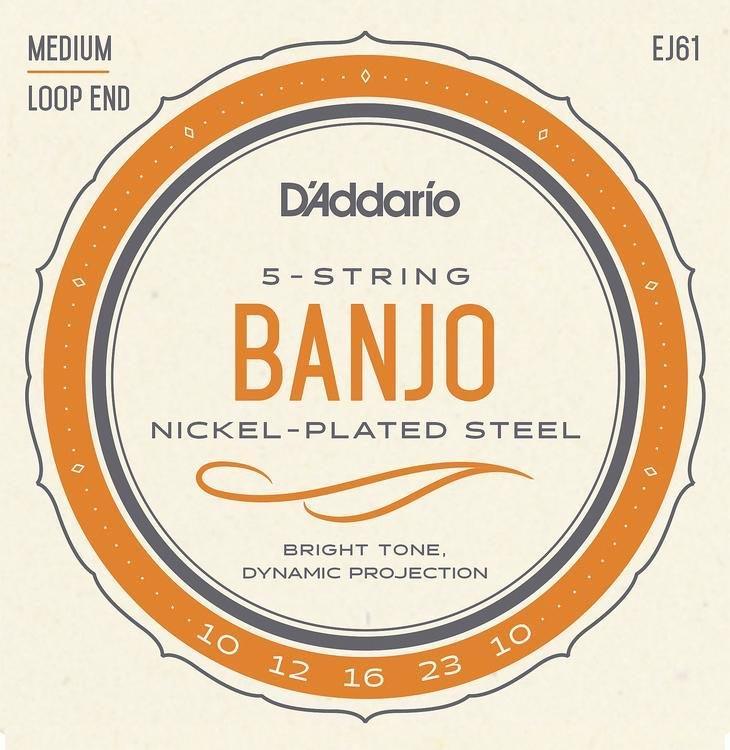D'Addario EJ61 Medium Gauge Banjo Strings