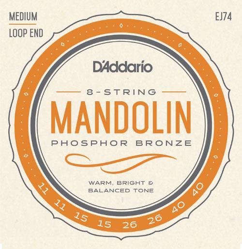 D'Addario EJ74 Medium Gauge Mandolin Strings