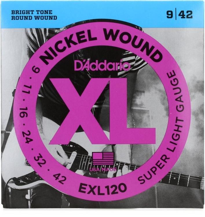 DAddario EXL120 Electric Guitar Strings 9-42