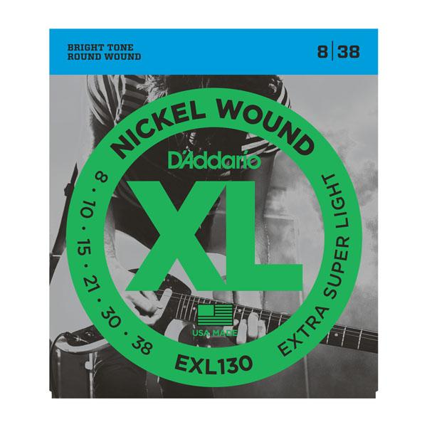 DAddario EXL130 Electric String Set .008-.038