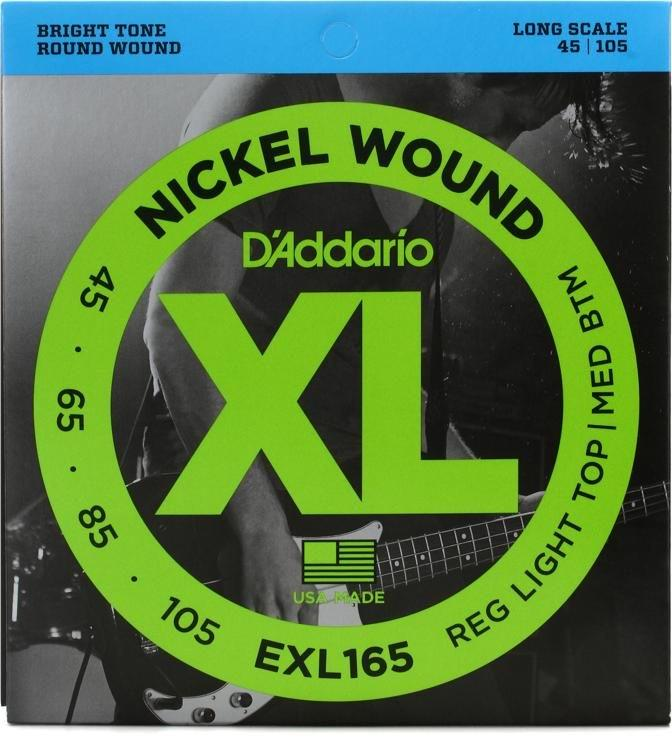 DAddario EXL165 Bass Guitar Strings 45-105