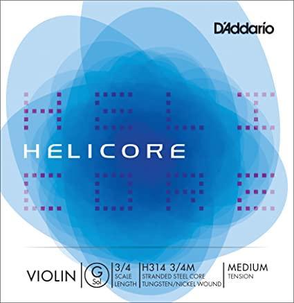 DAddario Helicore Violin Strings 3/4 Medium